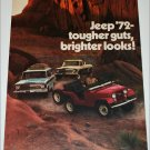 1972 American Motors Jeep Lineup ad