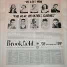 1956 Brookfield Clothing ad