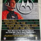 1999 Motorola Super Bowl Sweepstakes ad featuring Mike Shanahan