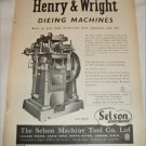 1952 Selson Machine Tool Company Ltd ad # 2 from the UK