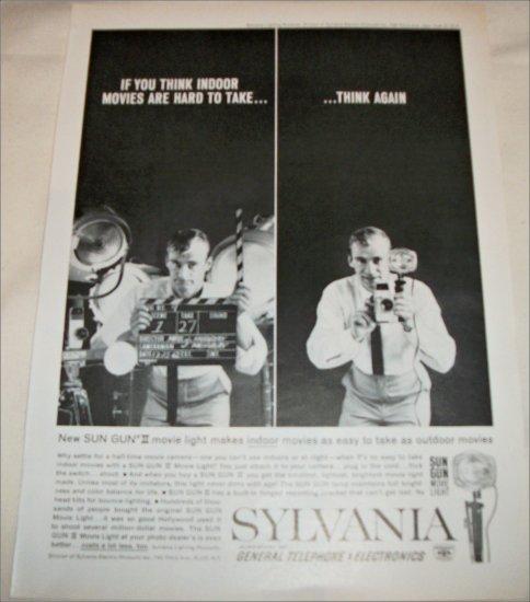1962 Sylvania Sun Gun Movie Light ad