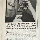 1963 Yashica 8-UP Movie Camera ad
