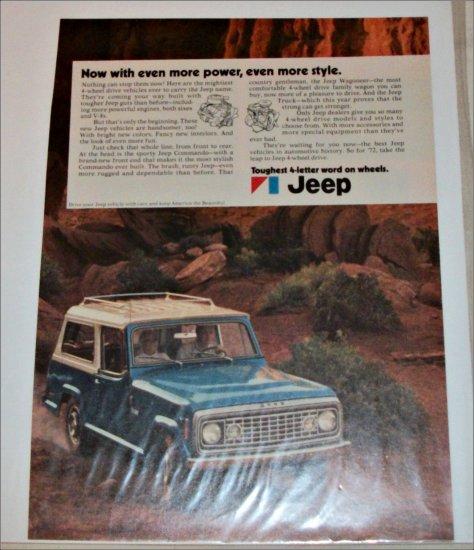 1972 American Motors Jeep Commando ad blue & white