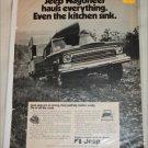 1972 American Motors Jeep Wagoneer Kitchen Sink ad