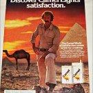 1980 Camel Lights Cigarette Pyramid ad
