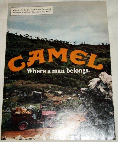 1980 Camel Cigarette Jeep ad