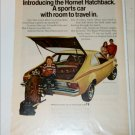1973 American Motors Hornet Hatchback car ad yellow