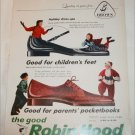 1957 Brown Robin Hood Shoes Christmas ad