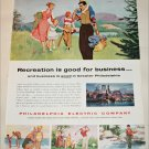 Philadelphia Electric Company Recreation ad