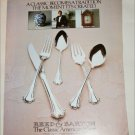 Reed & Barton New English Chippendale Sterling Silverware ad