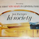 1959 Max Factor Hi Society Lipstick Fashion ad