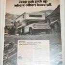 1973 American Motors Jeep pickup truck ad b&w #2