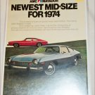 1974 American Motors Matador 2 dr sedan car ad