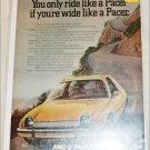 1975 American Motors Pacer car ad yellow