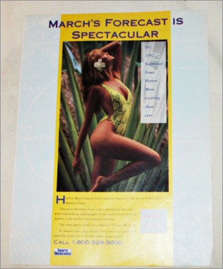 1992 Sport's Illustrated Swimsuit March Edition ad