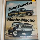 1976 American Motors Jeep Honcho Pickup truck ad