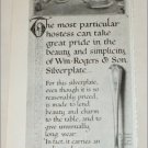 1922 William Rogers & Son Silverplate ad #2