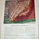 1957 Union Carbide Keeping Water Out In The Rain ad