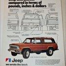 1977 American Motors Jeep Cherokee Chief ad