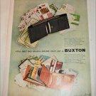 1953 Buxton Superfold & Convertible Billfold ad