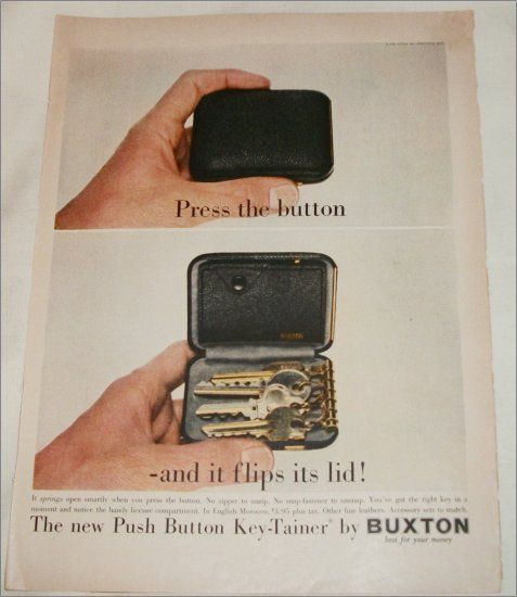 1958 Buxton Key-Tainer ad