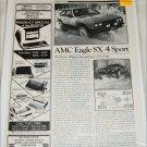 1981 American Motors Eagle SX4 Sport drive report