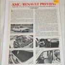 1981 American Motors/Renault article