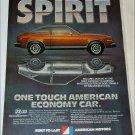 1981 American Motors Spirit DL car ad