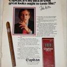 Capitan Cigar ad featuring John Weitz