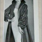 1953 Bradleys Wild Mink Coat ad from the UK