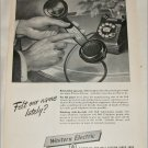 1950 Western Electric Felt Our Name ad