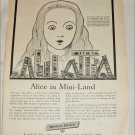 Western Electric Alice in Mini-Land ad