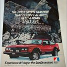 1981 American Motors Eagle SX4 car ad