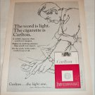 1965 Carlton Cigarette The Word Is Light ad #2