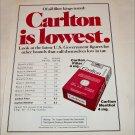 1975 Carlton Cigarette ad