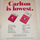 1980 Carlton Cigarette ad