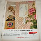1960 Western Electric Belle Of The Wall ad