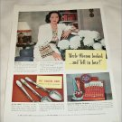 1940 1847 Rogers Brothers Silverplate ad featuring Merle Oberon