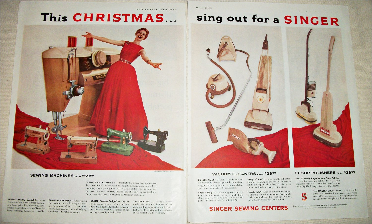 1960 Singer Appliances Christmas ad
