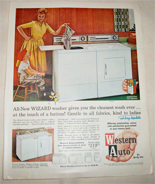 1962 Western Auto Wizard Washer ad
