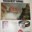 1971 AC Oil Filter ad featuring Guy Jones