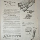 1924 Alemite Lubricating System ad