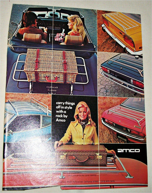 1974 Amco Luggage Racks ad