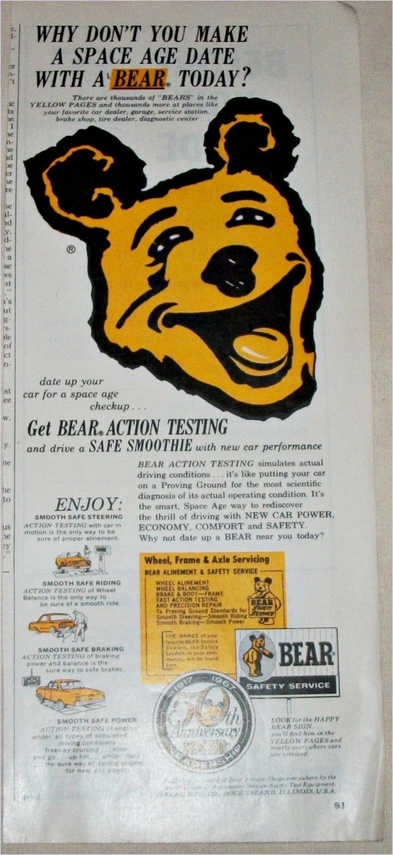 1968 Bear Safety Service ad