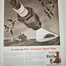 1938 Champion Spark Plugs ad