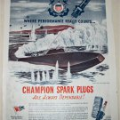 1944 Champion Spark Plugs ad