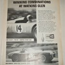 1963 Champion Spark Plugs Watkins Glenn ad featuring Shelby Cobra