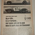 1965 Champion Spark Plugs USRRC ad