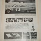 1966 Champion Spark Plugs ad featuring Richard Petty