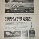 1966 Champion Spark Plugs ad featuring Richard Petty